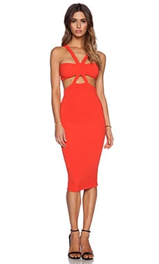 Nookie Claudia Bodycon Dress in Orange