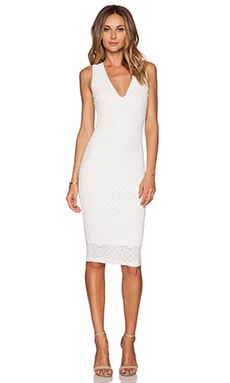 Nookie Catch & Kiss Cross Back Dress in White