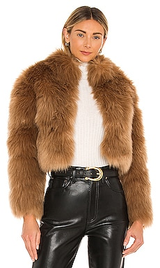 Tatiana Faux Fur Jacket Nookie $299 NEW