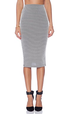Nookie x REVOLVE Alley Oop Pencil Skirt in Black & White