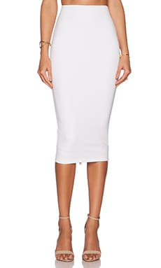 Nookie Seymour Pencil Skirt in White