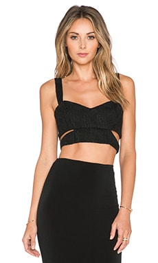 Nookie Lady Luck Crop Top in Black