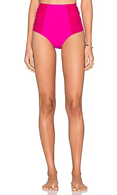 Nookie Horizon Mesh High Waist Bikini Bottom in Fuchsia