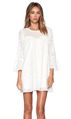 Nikki Reed for REVOLVE Eleanor Dress in Cream