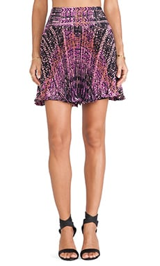 Nanette Lepore Flippy Weave Skirt in Orchid Multi