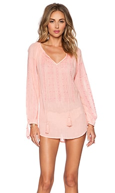 Nanette Lepore Calcutta Peasant Tunic in Light Coral