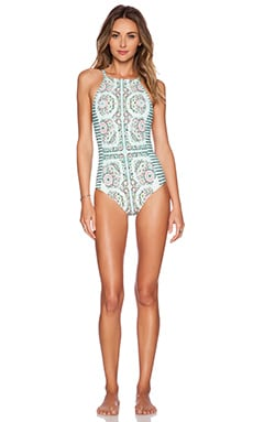 Nanette Lepore Montecito Seductress Swimsuit in Seafoam