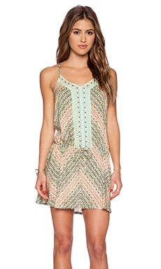 Nanette Lepore Paso Robles V Neck Mini Dress in Multi