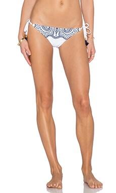 Nanette Lepore Henna Vamp Bikini Bottom in White