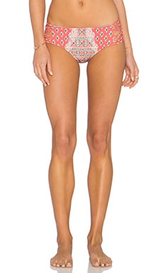 Nanette Lepore Bindi Doll Bikini Bottom in Coral