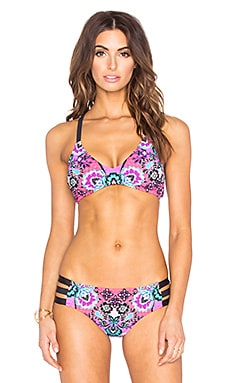 Bali Batik Heartbreaker Bikini Top in Raspberry