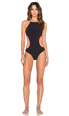 Nanette Lepore Jakarta Jaguar Reversible Goddess One Piece in Raspberry