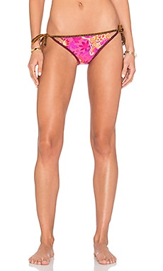 Jakarta Jaguar Vamp Reversible Bikini Bottom in Raspberry