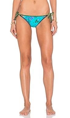Купить Двусторонний низ бикини vamp - Nanette Lepore, С завязками по бокам, США, Бирюзовый