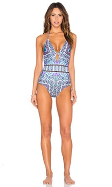 Paros Paisley Goddess One Piece in Multi