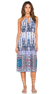Paros Paisley Midi Dress in Multi