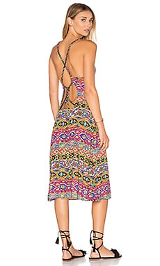 Carnaval Midi Dress in Multi