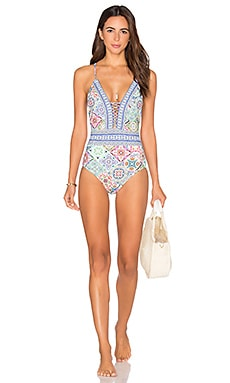 Greek Tiles Goddess One Piece in Multi