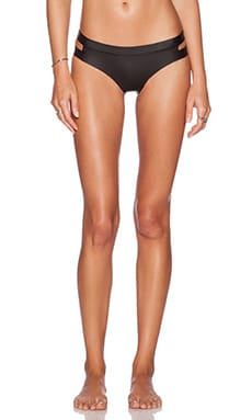N.L.P Vega Slash Bum Bikini Bottom in Black Smoothy