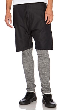 NLST Double Layer Shorts in Black