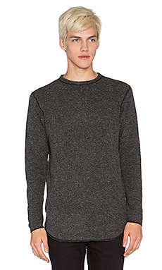 NLST Unfinished Edge Sweatshirt in Charcoal