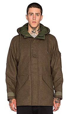 NLST Wool Tech Parka in Olive Drab
