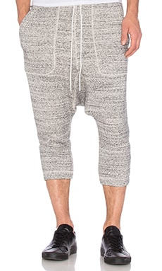 NLST Knit Harem Sweatpants in Salt & Pepper