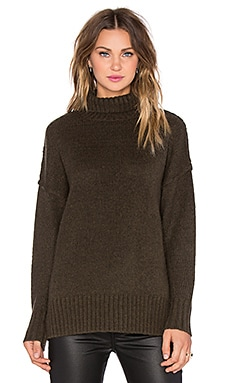 NLST Oversized Turtleneck Sweater in Olive Drab