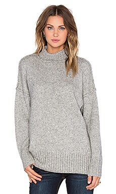 NLST Oversized Turtleneck Sweater in Heather Grey