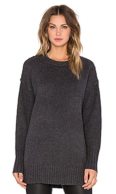 NLST Oversized Crewneck Sweater in Charcoal