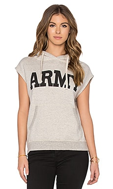 NLST Sleeveless Army Popover Sleeveless Hoodie in Oatmeal