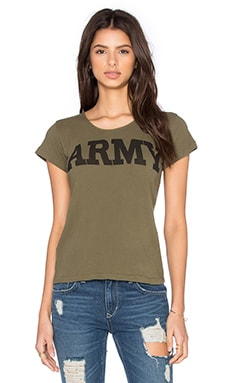 Little Army Tee in Olive