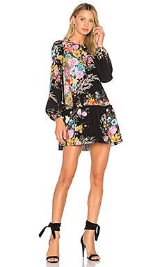 Купить Мини-платье с цветочным рисунком - No. 21 черного цвета