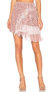 Ruffle Floral Skirt in Pattern