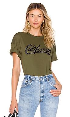 Купить Футболку california - No. 21 оливкового цвета