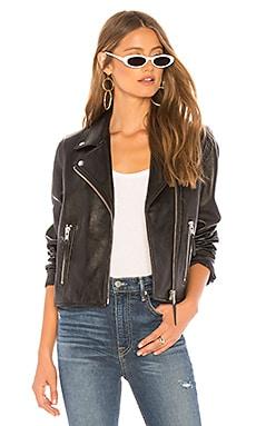 Купить Куртку classic leather - Nobody Denim черного цвета