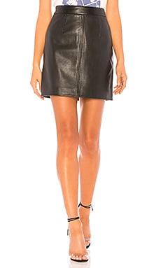 Купить Юбку cleanline leather - Nobody Denim черного цвета