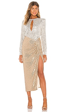 Lena Sequin Maxi Dress NONchalant $811
