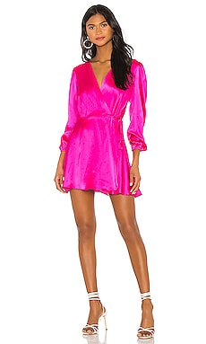 Wrap Silk Mini Dress NONchalant $239
