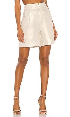 Linen Front Zipper Short NONchalant $183