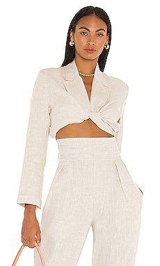 Cecilia Twist Crop Blazer Top NONchalant $352