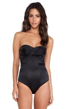 NOE Undergarments Ryan Silk Bodysuit in Black