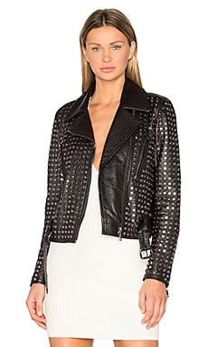 NOUR HAMMOUR Schism Jacket in Black & Gunmetal