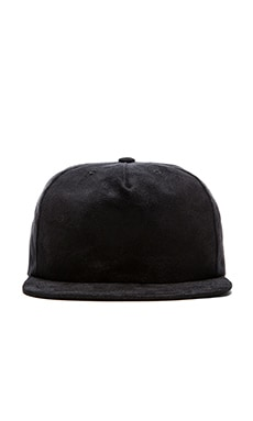 Norse Projects Faux Suede Trucker Cap in Black