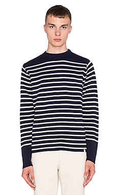 Norse Projects Verner Sweater in Navy Stripe