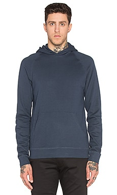 Ketel Hood Light Brushed Sweatshirt in Navy