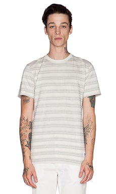 Norse Projects Niels Texture Stripe Tee in Kit White
