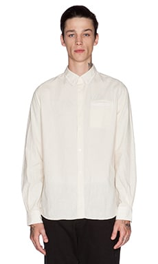 Norse Projects Anton Chambray Button Down in Ecru