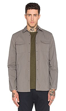 Norse Projects Jens Ripstop Nylon Shirt Jacket in Pewter