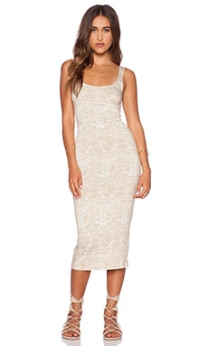 NOVELLA ROYALE Eddie Midi Dress in White Chantilly